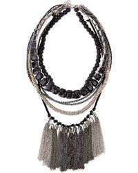 Haute Hippie Multi-strand Beaded Fringe Necklace - Lyst
