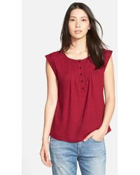 Ace Delivery - Print Henley Top - Lyst