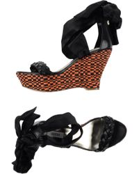 Guess Sandals black - Lyst