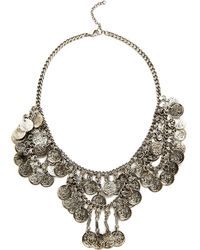 Raga - Coin Necklace - Silver - Lyst