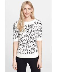 Kate Spade 'Love' Print Pullover beige - Lyst