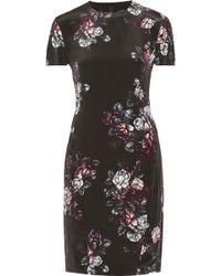 McQ by Alexander McQueen Sliding Seam Floral-Print Silk Dress - Lyst