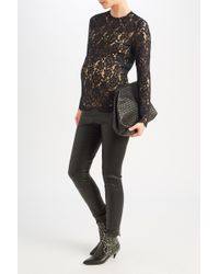 Sandro | Black Guipure Lace Top | Lyst