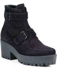 Miu Miu Sport Suede Double-buckle Ankle Boots - Lyst