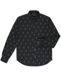 Paul Smith Black Lightning Bolt Print Shirt black - Lyst