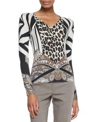 Etro Leopard and Paisley Silk Top - Lyst