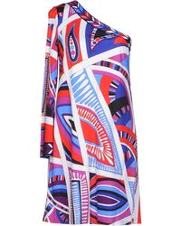 Emilio Pucci Red Short Dress - Lyst