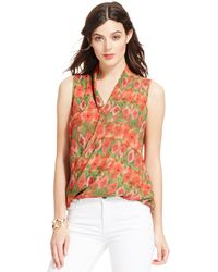 Kut From The Kloth Sleeveless Printed Wrap Top - Lyst