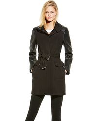Vince Camuto Soft Shell Hooded Coat - Lyst