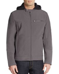 Kenneth Cole Reaction Hooded Jacket - Lyst