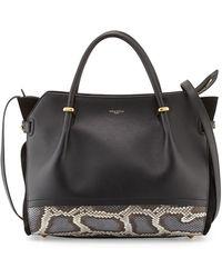 Nina Ricci Marche Snake  Leather Satchel Bag - Lyst