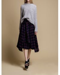 Rhié | Long Sleeved Shirt Wrap Skirt | Lyst