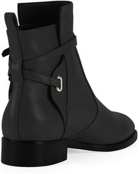 Balenciaga Ankle-Strap Flat Ankle Boot - Lyst