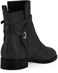 Balenciaga Anklestrap Flat Ankle Boot Black - Lyst