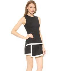 McQ by Alexander McQueen Round Neck Peplum Dress  Jet Black - Lyst
