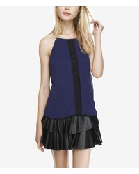 Express Lace Inset High Neck Blouson Cami - Lyst