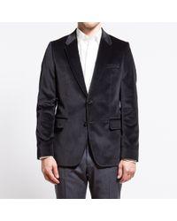 Paul Smith Black Velvet Jacket - Lyst