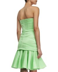 Halston Heritage Strapless Taffeta Dress - Lyst