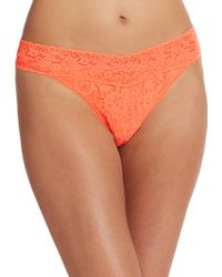 Hanky Panky Signature Lace Original-Rise Thong orange - Lyst