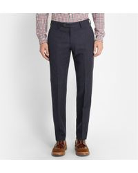J.Crew Navy Ludlow Wool-blend Suit Trousers - Lyst