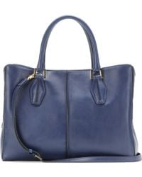 Tod's Dcube Medium Leather Tote - Lyst