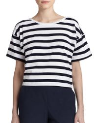 Theory Fayla Striped Tee - Lyst