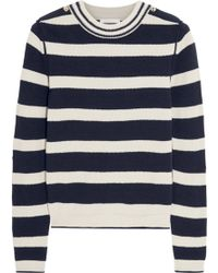 Chloé Striped Wool Blend Sweater - Lyst