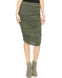 Splendid New Haven Stripe Pencil Skirt Hunter - Lyst