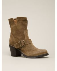 Fiorentini + Baker Stacked Heel Boots - Lyst