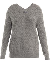 Vince Brick-knit Wool-blend Sweater - Lyst