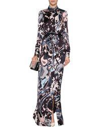 Emilio Pucci Printed Silk Maxi Dress - Lyst