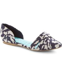 ModCloth Flats A Wrap in Clouds - Lyst