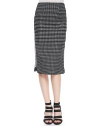 Zac Zac Posen - Straight Patterned Skirt With Side Insets - Lyst