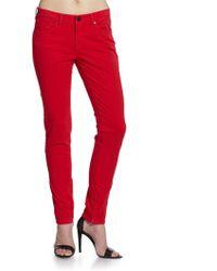 Elie Tahari - Skinny Anklezip Jeans - Lyst
