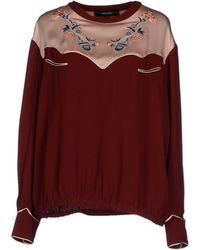 Isabel Marant Blouse red - Lyst