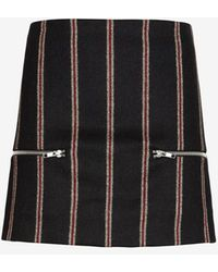 Elizabeth And James Raya Striped Zipper Skirt - Lyst