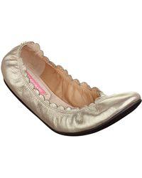 Isaac Mizrahi New York Kathy Leather Flats - Lyst