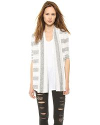Splendid Rugby Pointelle Loose Knit Cardigan White - Lyst