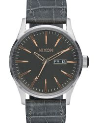 Nixon | Grey Sentry Gator Leather Watch | Lyst