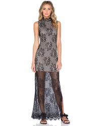 The Allflower - Motif Lace Maxi Dress - Lyst