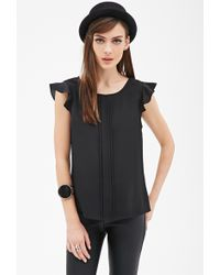 Forever 21 Pleated Woven Blouse - Lyst