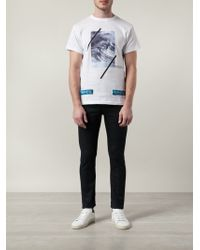 Off-White Wave Print T-Shirt - Lyst