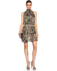 Lover Serpentine Mini Dress - Lyst