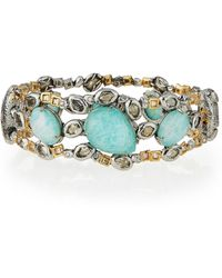 Alexis Bittar Elements Mixed-Stone Hinge Bracelet - Lyst