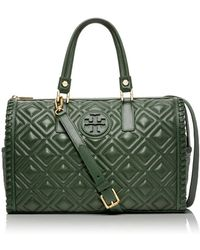 Tory Burch Marion Quilted Satchel - Lyst