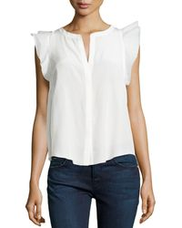 Madison Marcus Ruffle-Sleeve Blouse - Lyst