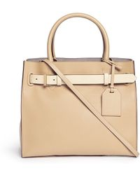 Reed Krakoff 'Rk40' Colourblock Milled Leather Tote - Lyst