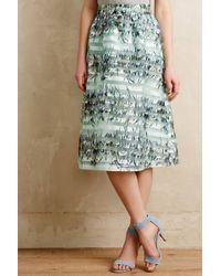 Maeve Spearmint Stripe Skirt - Lyst