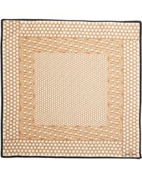 Brooks Brothers Basketweave Silk Scarf - Lyst
