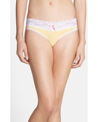 Honeydew Intimates Lace Trim Low Rise Thong - Lyst